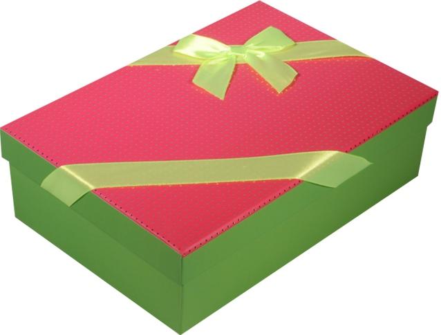 """Коробка подарочная """"Неон"""" розовая 22*15*6,5см"""