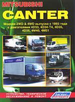 Mitsubishi Canter Модели 2WD&4WD c 1993 г. выпуска Устройство, техническое обслуживание и ремонт (черно-белое издание) (мягк) (Альстен)