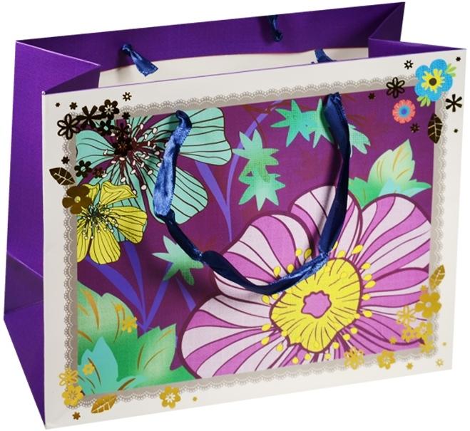"""Пакет подарочный бумажный """"Ночные цветы"""", А5"""