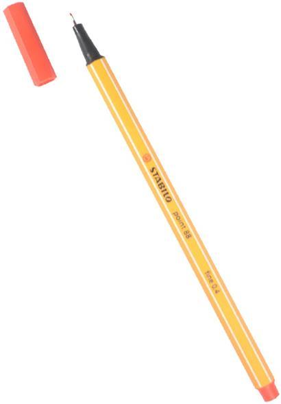 """Ручка капиллярная красная """"Рoint"""" 0,4мм, STABILO"""