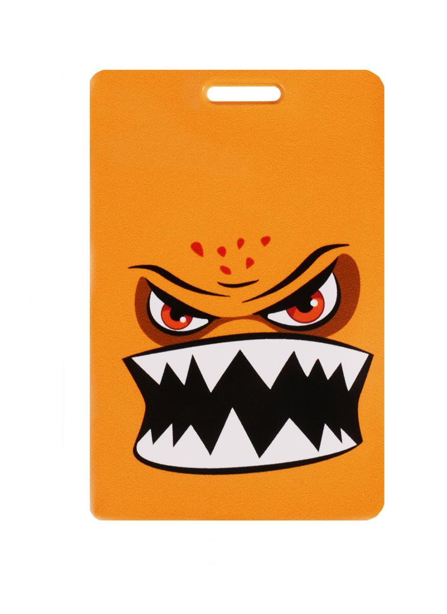 Чехол для карточек Монстр оранжевый