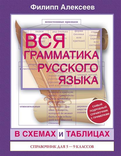 Алексеев Ф. Вся грамматика русского языка в схемах и таблицах. Справочник для 5-9 классов
