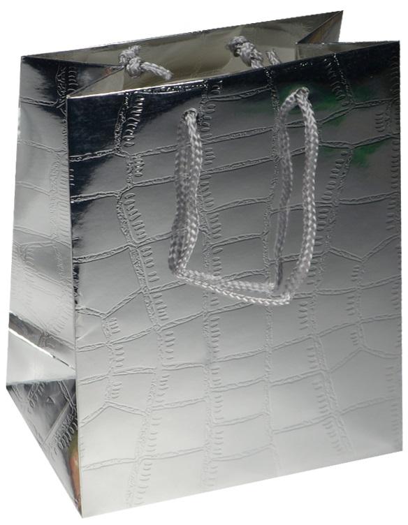 """Пакет подарочный бумажный """"Кожа"""" металлик, А5"""
