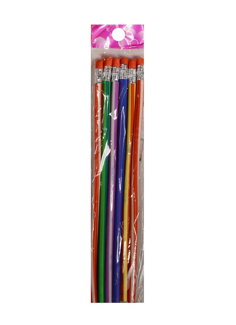 Набор карандашей с ластиком Гнущийся (6шт.) (F-6)