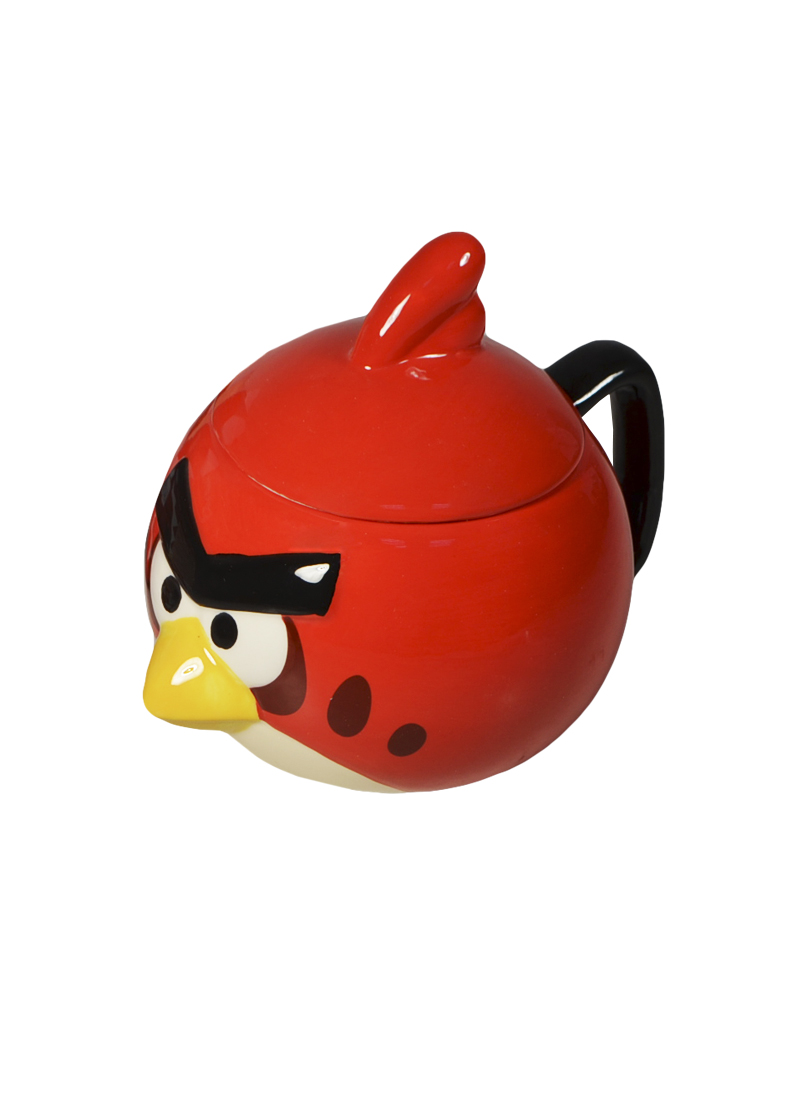 Angry Birds Кружка объемная с крышкой Красная птица (доломит) (СР Дистрибуция)