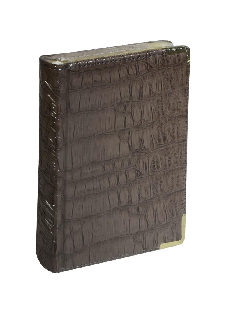 """Ежедневник недатированный А6 152 листа """"Prestige. Skin"""" серо-коричневый"""