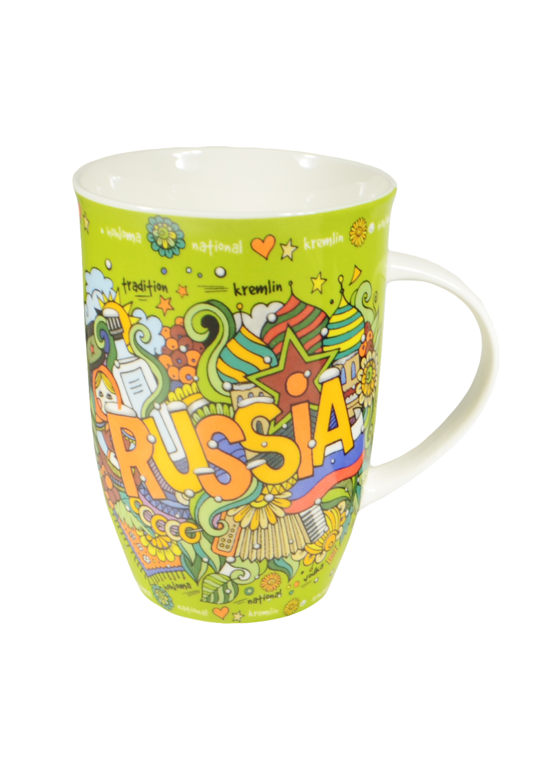 Кружка Russia в подарочной упаковке (153-634) (450мл) (6 видов) (Авангард)