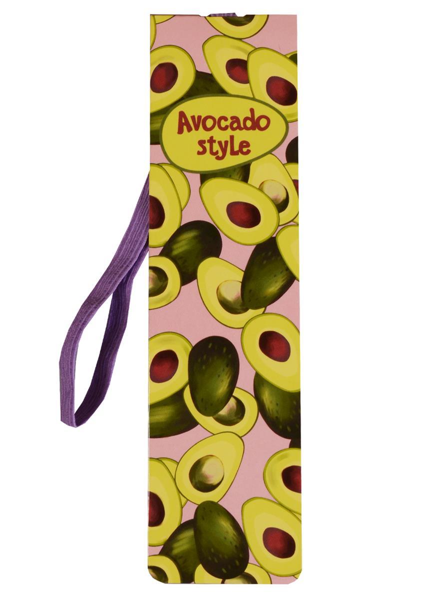 Закладка с резинкой Авокадо