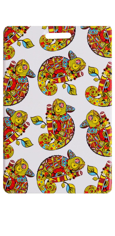 Чехол для карточек Хамелеон с узорами