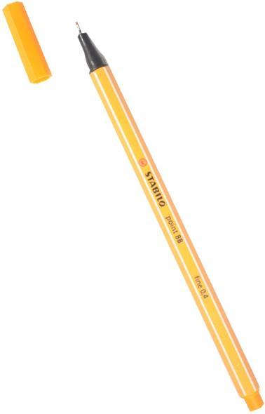 Ручка капиллярная оранжевая