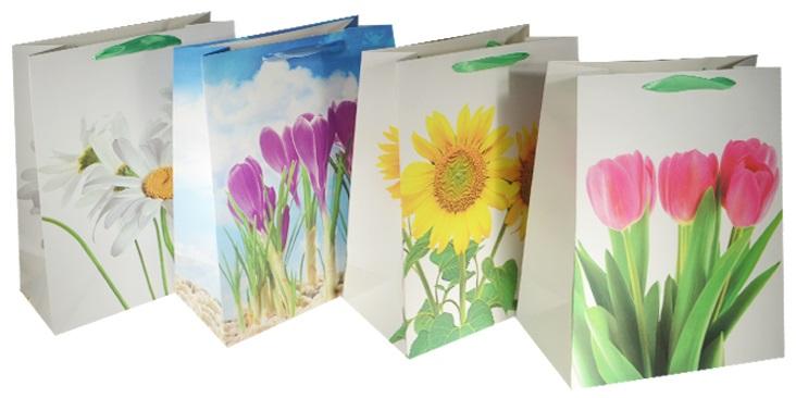 """Пакет подарочный бумажный """"Цветочная романтика"""", А5"""