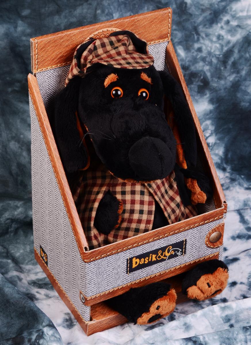 Мягкая игрушка Такса Ваксон в накидке (25 см)