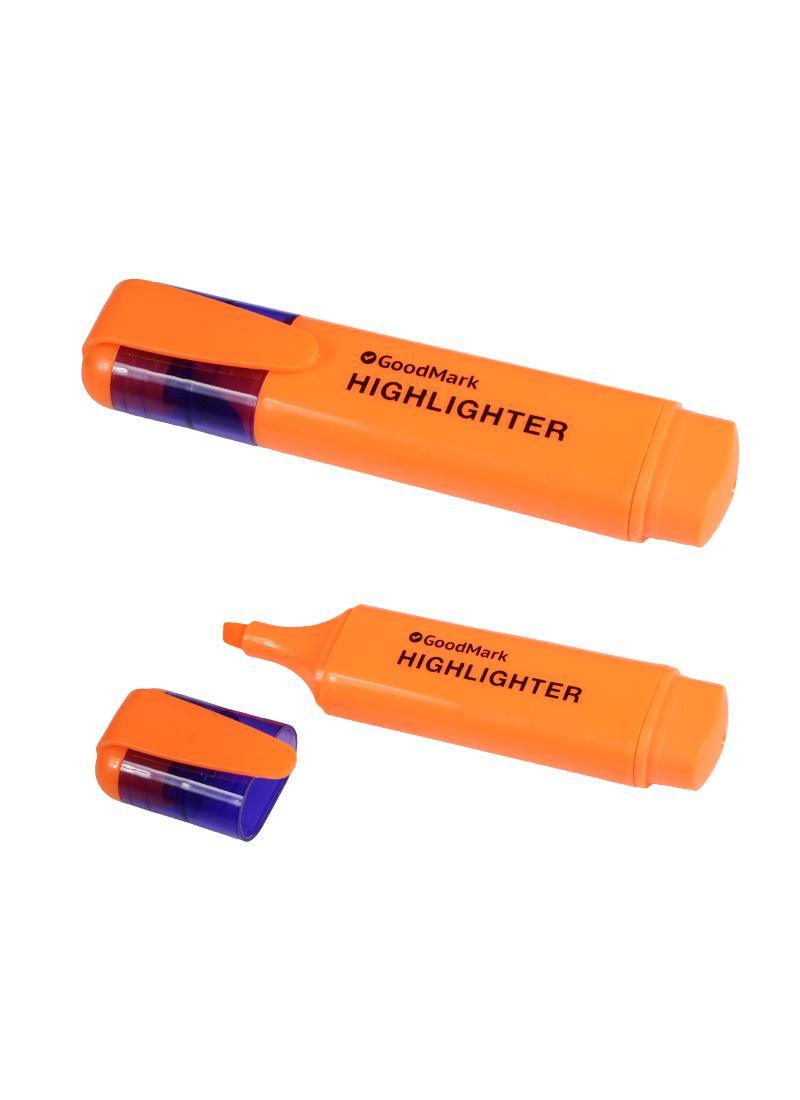 Текстовыделитель оранжевый 1-5мм, флюорисцентный
