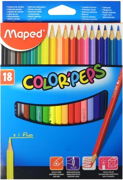 "Карандаши цветные ""COLORPEPS"", 18 цв., MAPED"