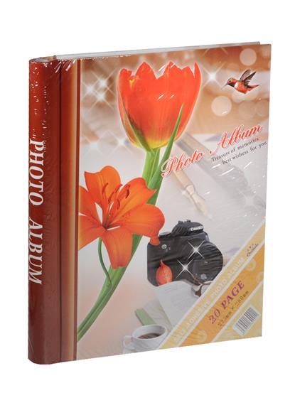 Фотоальбом магнитный 10 листов Красный тюльпан (24х29)