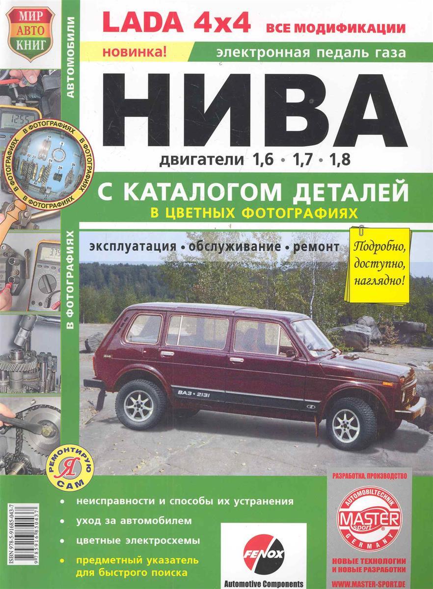 Автомобили Нива с двигателями об. 1,6, 1,7, и 1,8 л.