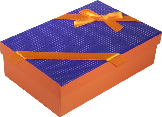 """Коробка подарочная """"Неон"""" фиолетовая 20*13*6см"""