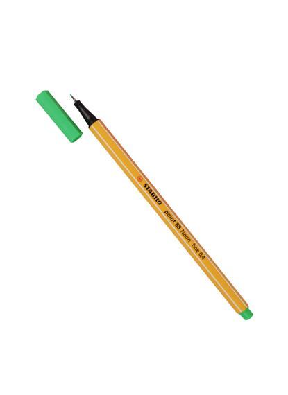 "Ручка капиллярная зеленая неон ""Рoint"" 0,4мм, STABILO"