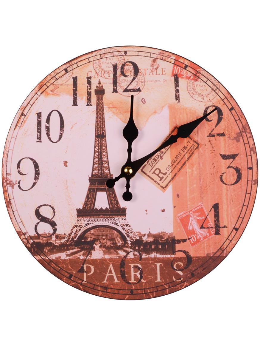 Часы настенные Париж Эйфелева башня (мдф)