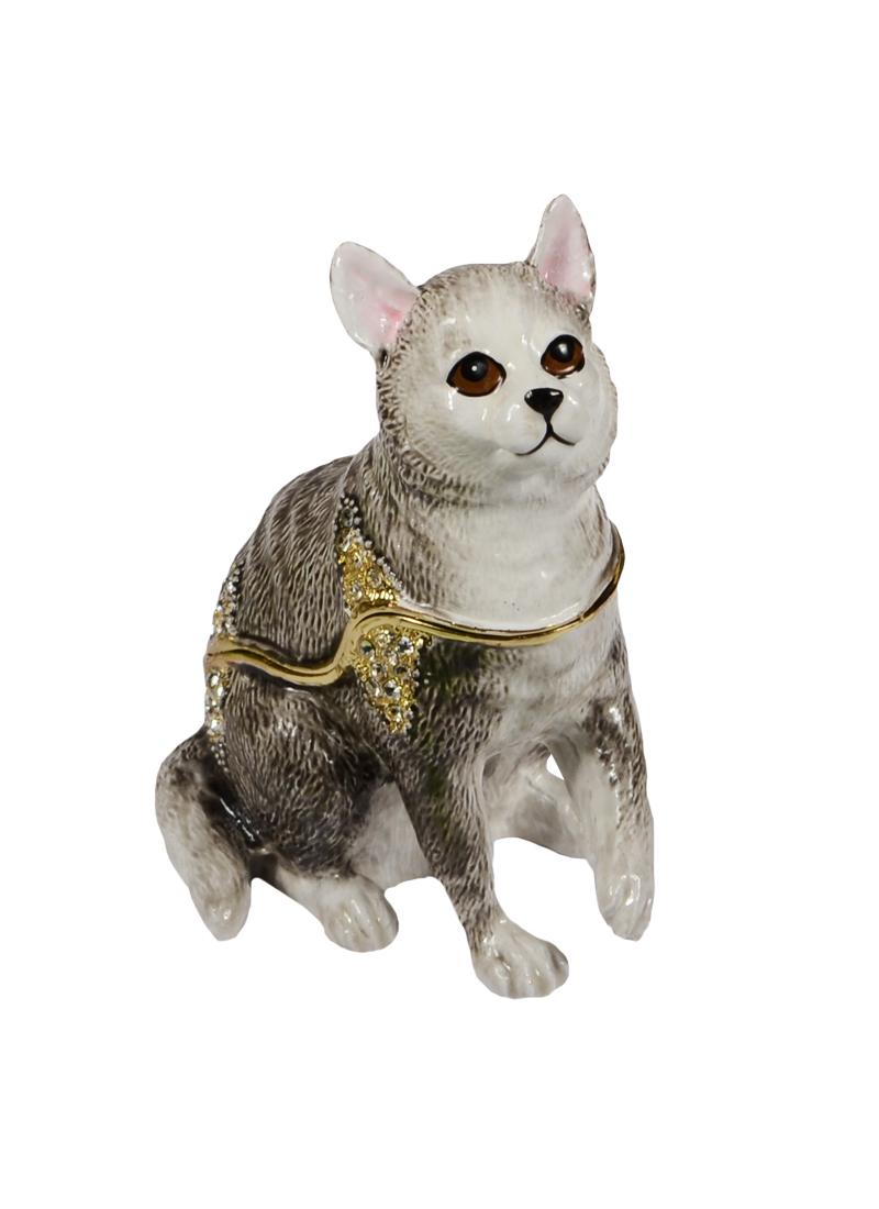 """Шкатулка мет.""""Серый Кот сидит"""" (BP2899K1)"""