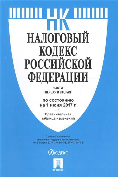Налоговый кодекс Российской Федерации. Части 1 и 2 (по сост. на 01.06.2017) + Сравнительная таблица изменений
