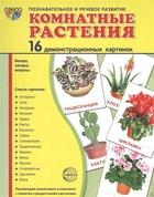 Комнатные растения. 16 демонстрационных картинок. Беседа, загадка, вопросы. Познавательное и речевое развитие