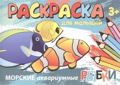 Морские аквариумные рыбки. Раскраска для малышей аквариумные рыбки в ейске