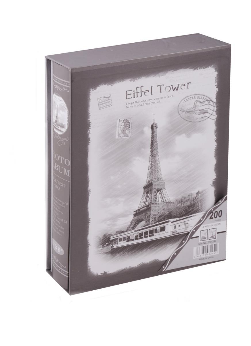 Фотоальбом на 200 фото Лондон Париж ч/б (10х15) (коробка)