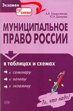 Муниципальное право России в таблицах и схемах