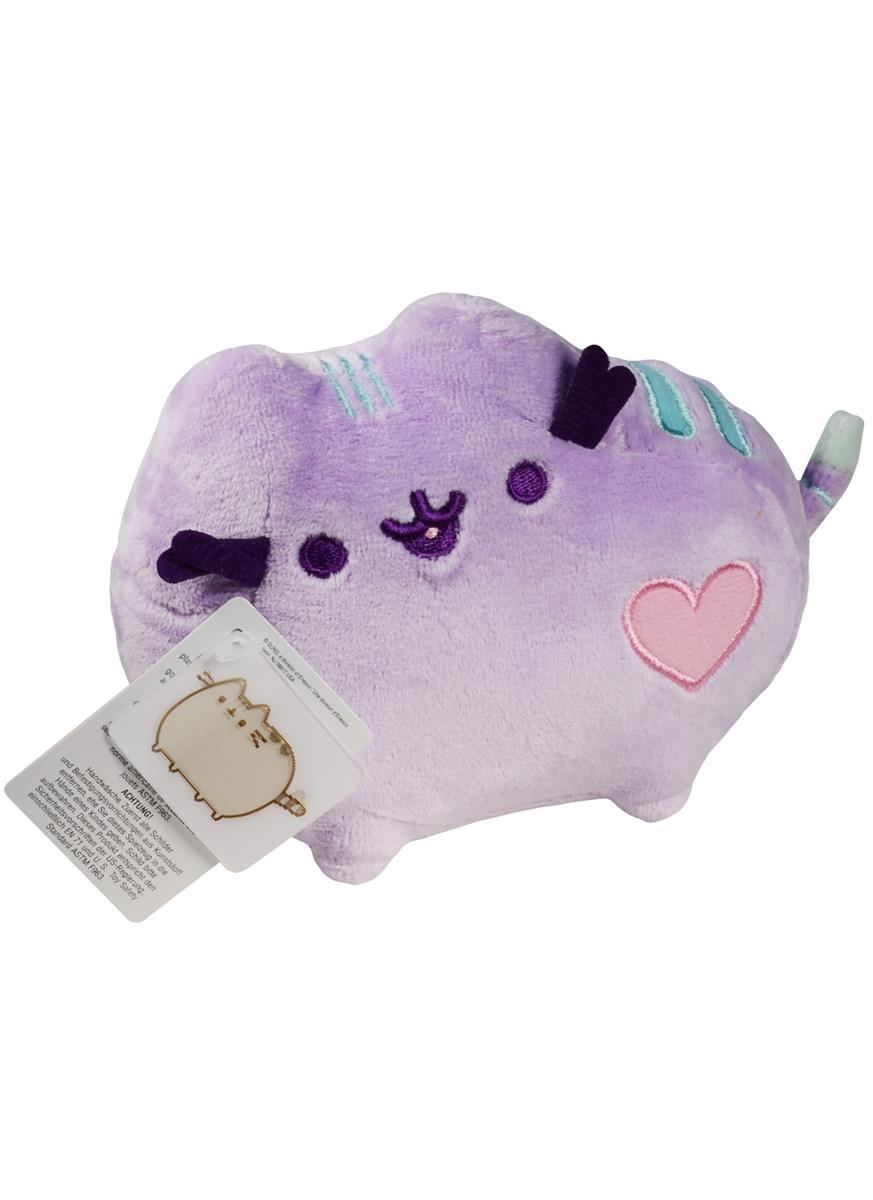 Котик Pusheen с сердечком фиолетовый