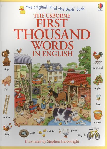 Amery H. First Thousand Words in English amery heather first english words sticker book