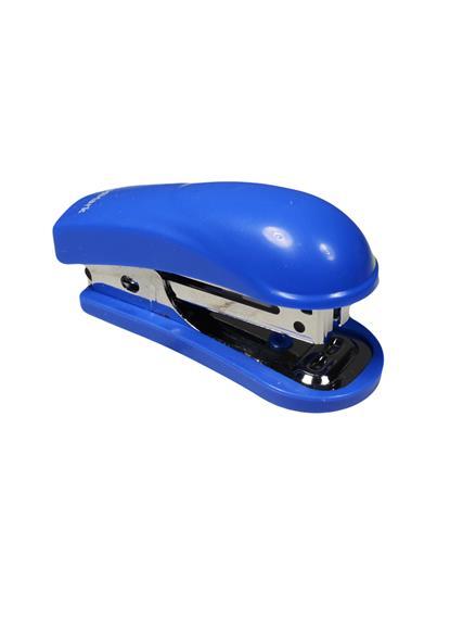 Степлер №10 12л мини, пластик, синий, антистеплер, GoodMark