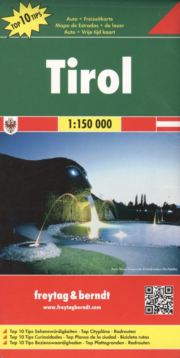 Tyrol. Road + Leisure map = Тироль. Дорожная карта + карта достопримечательностей. 1:150 000