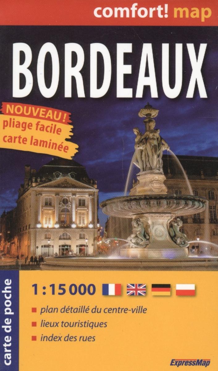 Bordeaux = Бордо. Ламинированная карта-покет. 1:15 000 от Читай-город
