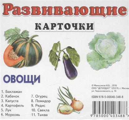 Овощи. Развивающие карточки