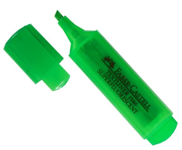 Текстовыделитель зеленый, Faber-Castell
