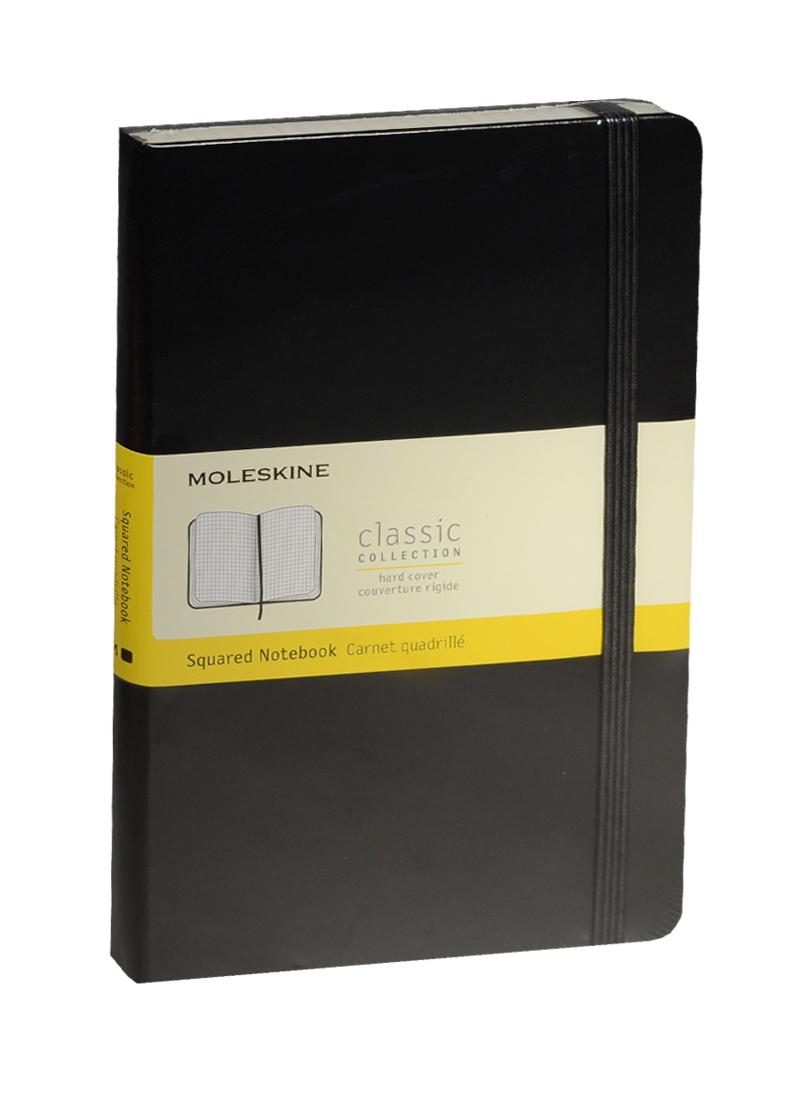 """Книга для записей А5 120л кл. """"Classic Large"""" черная, жесткая обложка, резинка, Moleskine"""
