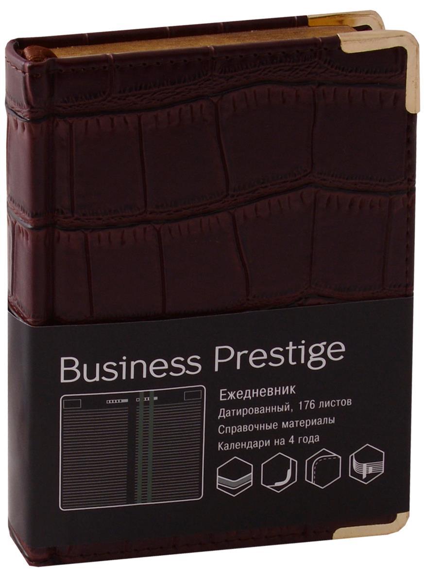"""Ежедневник датированный 2018г. А6 176 листов """"Prestige. Impact"""" темно-коричневый"""