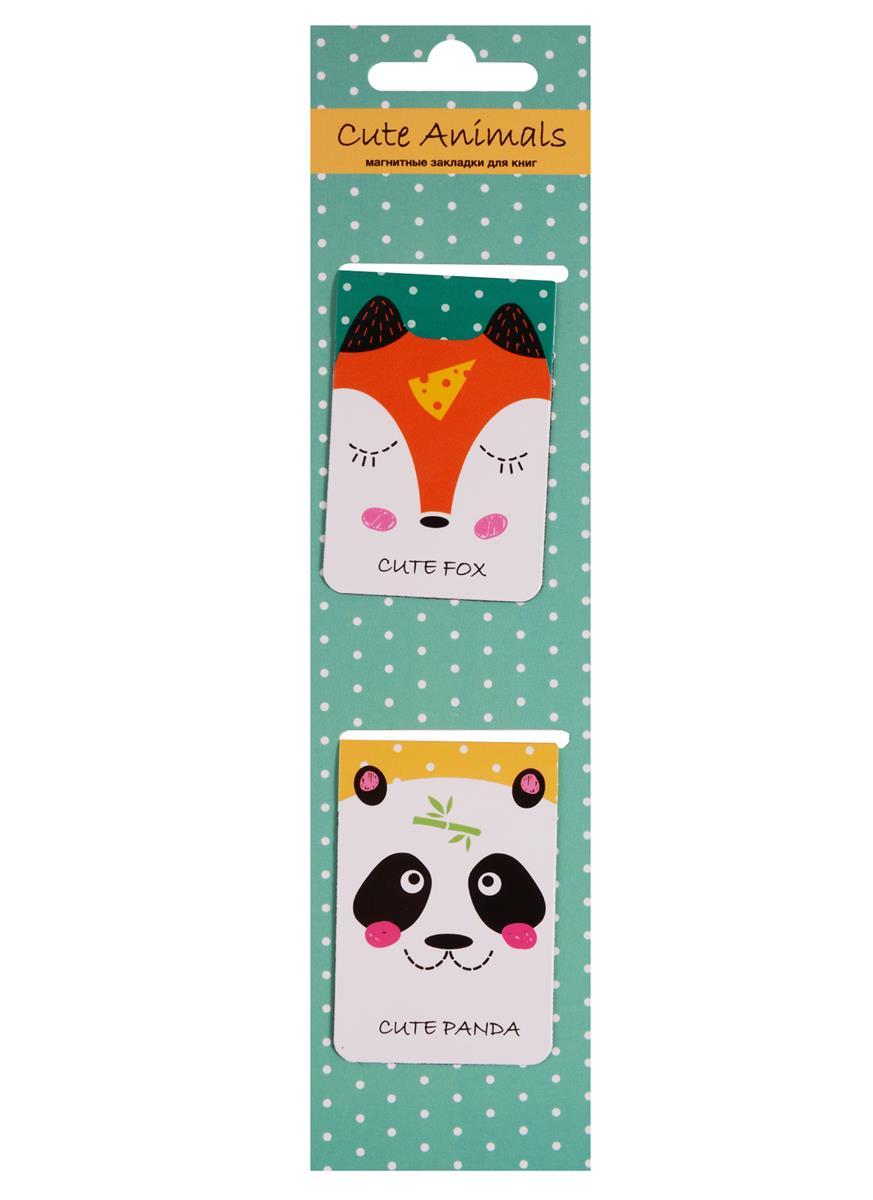 Магнитные закладки Cute Animals (мятная) (2 шт)