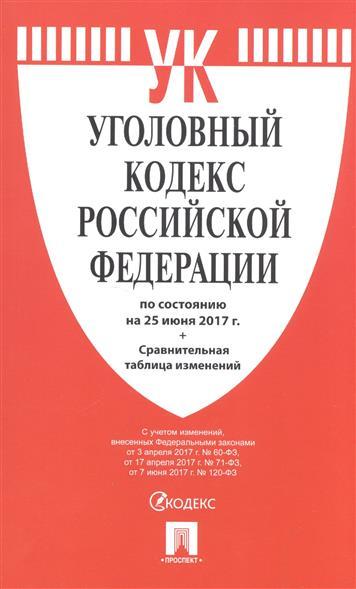 Уголовный кодекс Российской Федерации (по состоянию на 25 июня 2017г.) + сравнительная таблица изменений