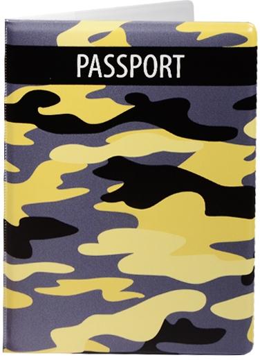 """Обложка для паспорта """"Камуфляж желтый"""""""