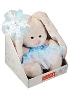 Мягкая игрушка НГ Зайка Ми со снежинкой на ушке (15 см)