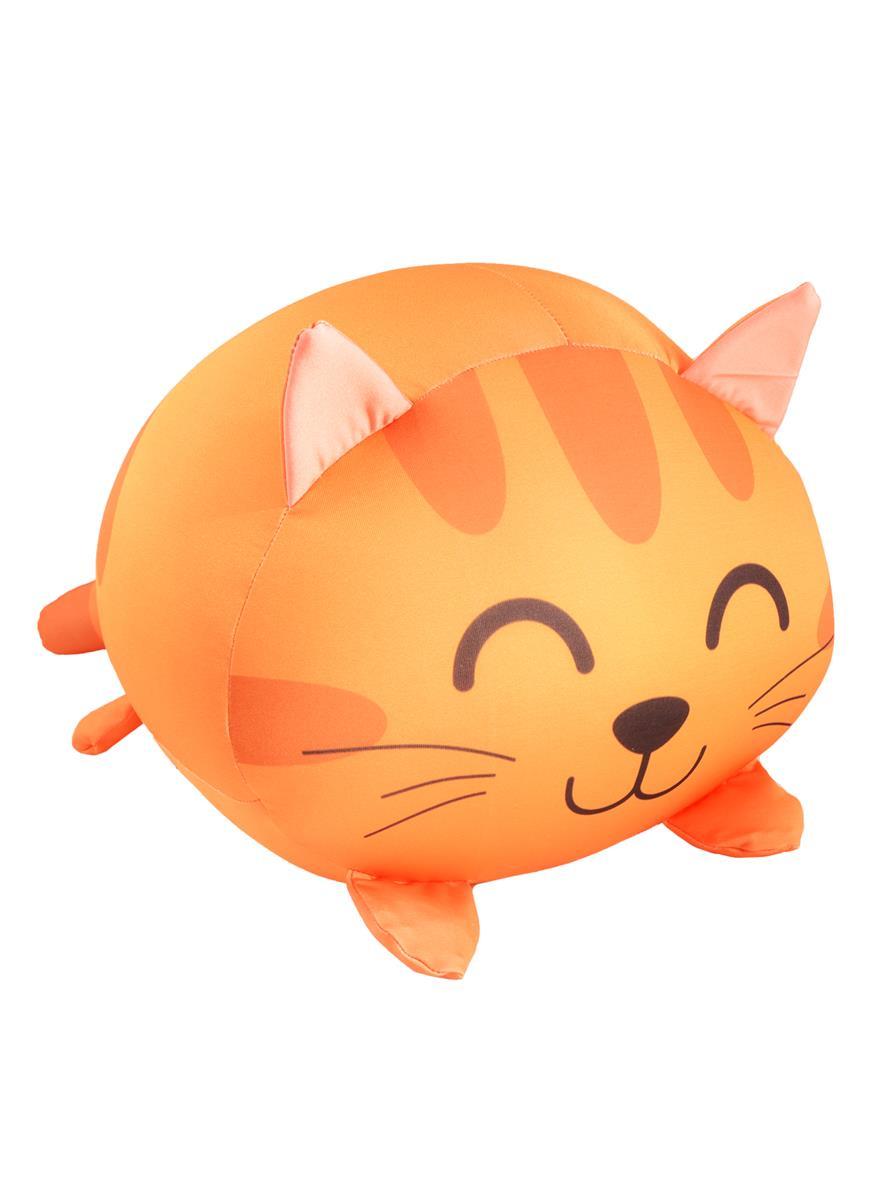 Игрушка-антистресс Котик рыжий лежит (35х30)