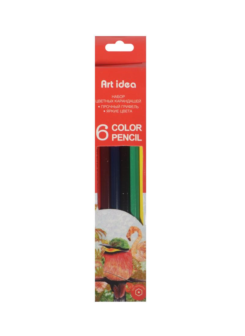 Карандаши цветные 06цв к/к, подвес, Art idea