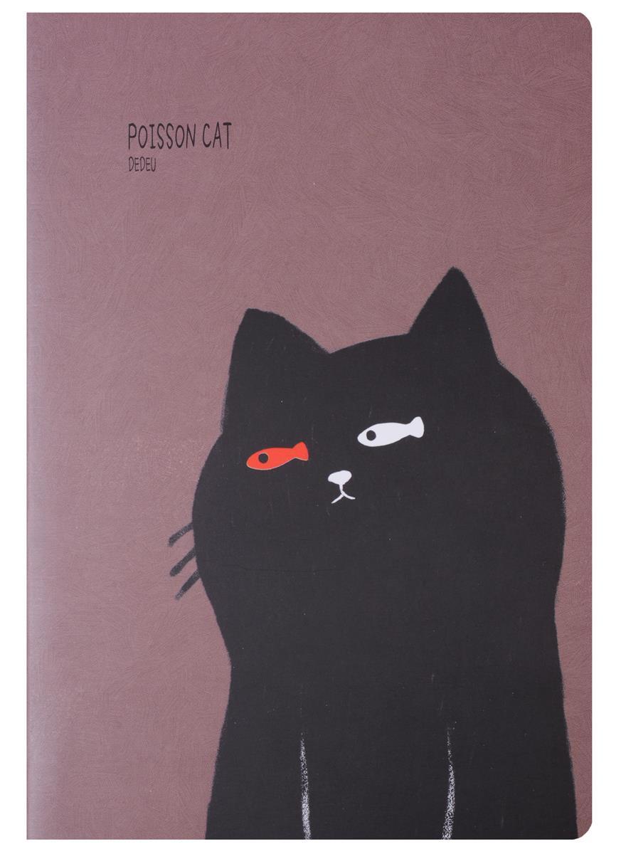 "Тетрадь 44 листа линейка ""Poisson Cat"""