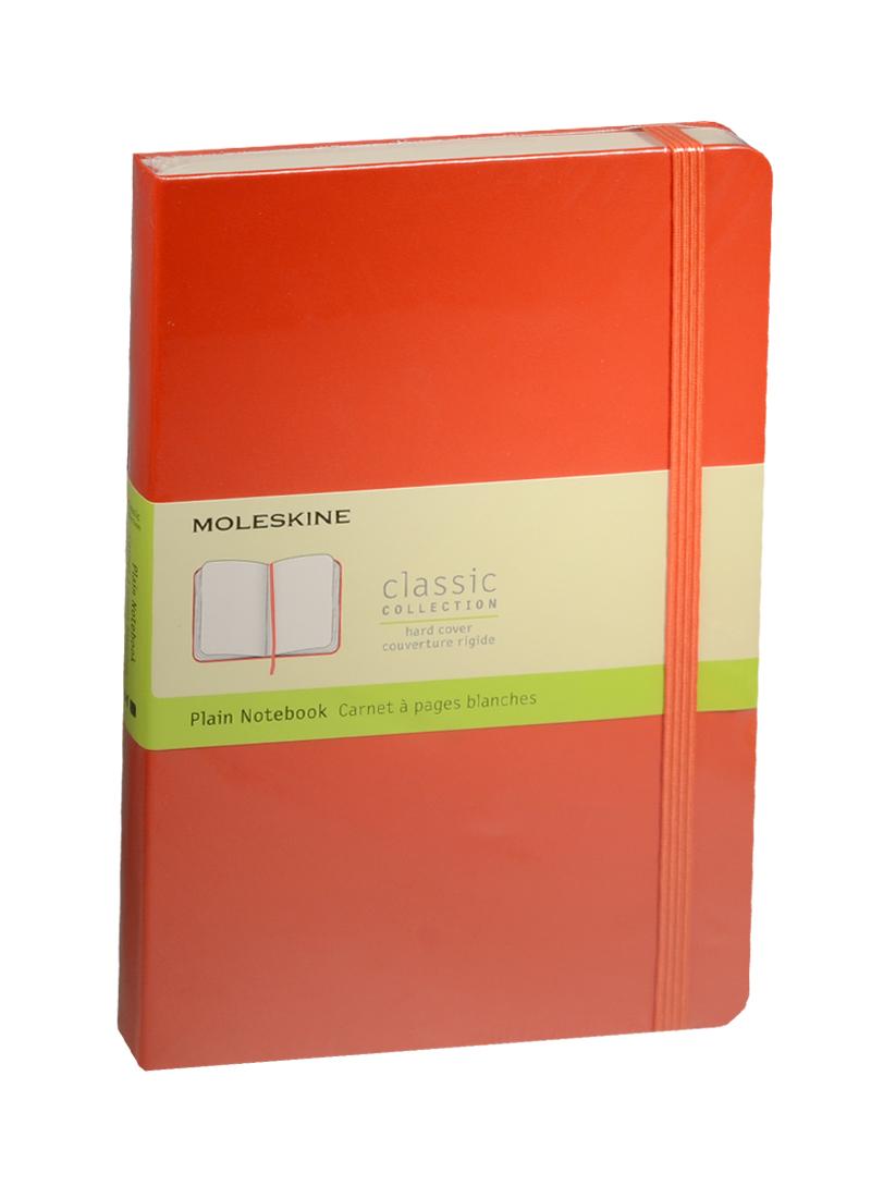 """Книга для записей А5 120л нелин. """"Classic Large"""" красная, жесткая обложка, резинка, Moleskine"""