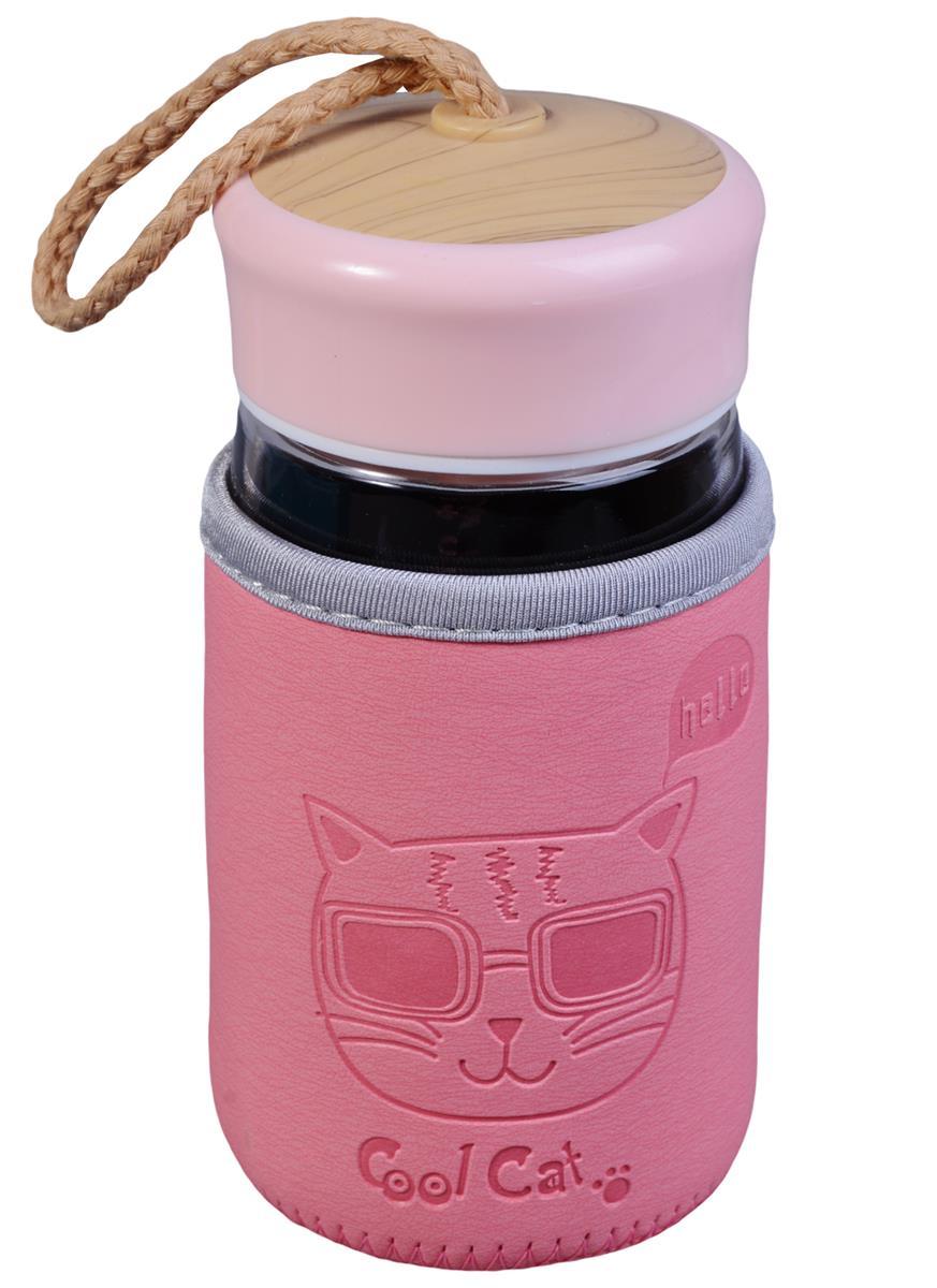 Бутылка в чехле Cool Cat (стекло) (300мл)