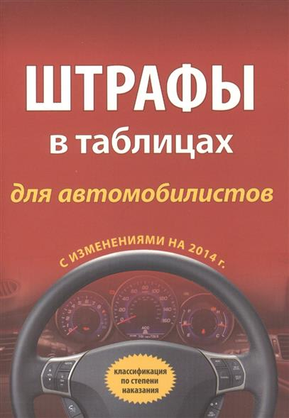 Штрафы в таблицах для автомобилистов с измениниями на 2014 г. Классификация по степени наказания