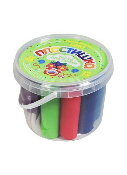 Набор №3 Тесто для лепки в большой пластиковой банке Тдл-003 (12цв х 30гр.) (набор для творчества) (3+) (Колорит)