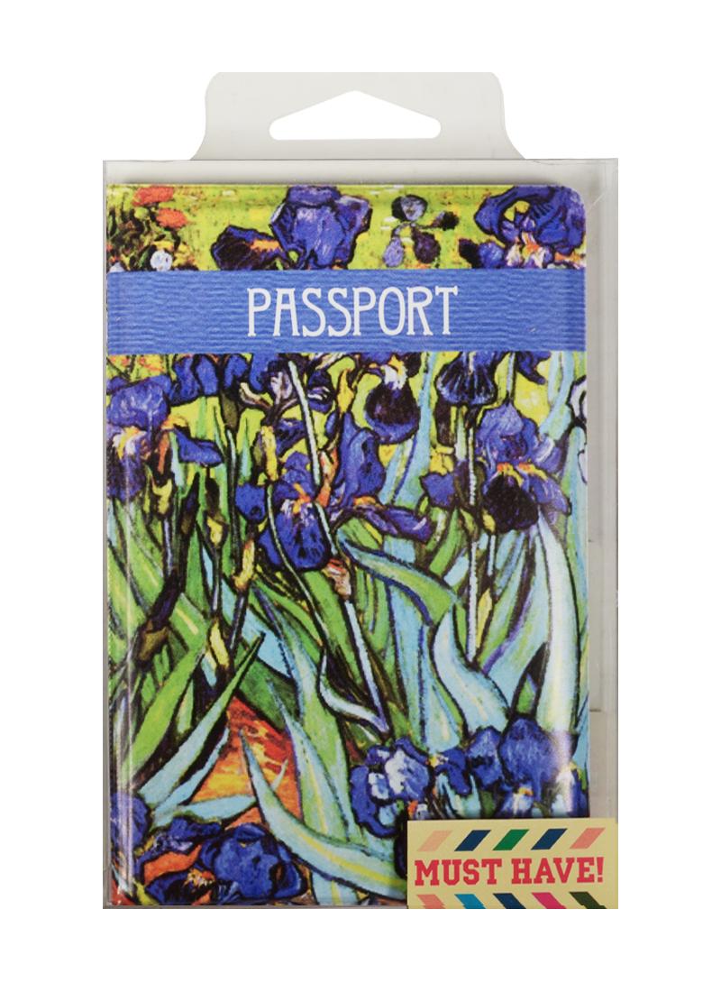 """Обложка для паспорта Винсент Ван Гог """"Ирисы"""" (ПВХ бокс)"""